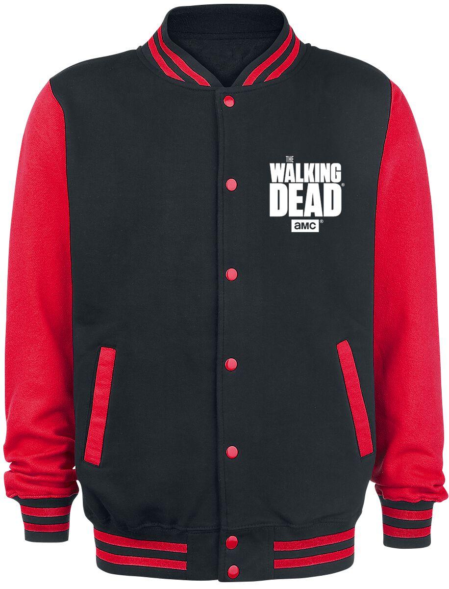 Image of   The Walking Dead Daryl Dixon - Fight The Dead - Wings Collegejakke sort-rød