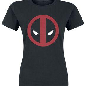 Deadpool Logo T-shirt Femme noir