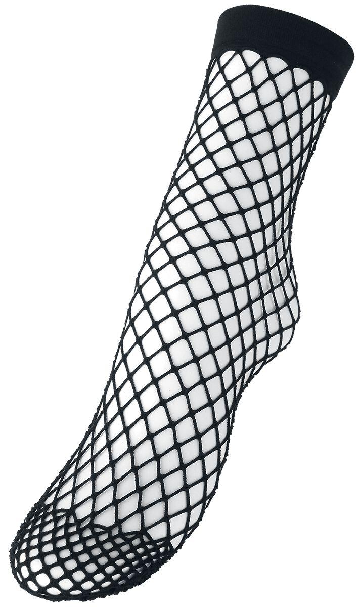 Socken für Frauen - Pamela Mann Extra Large Net Ankle Sock Socken schwarz  - Onlineshop EMP