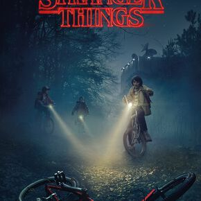 Stranger Things Bikes Poster multicolore