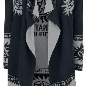 Supernatural Symbol Allover Cardigan pour Femme noir/gris