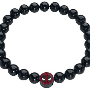 Deadpool Logo Bracelet noir/rouge