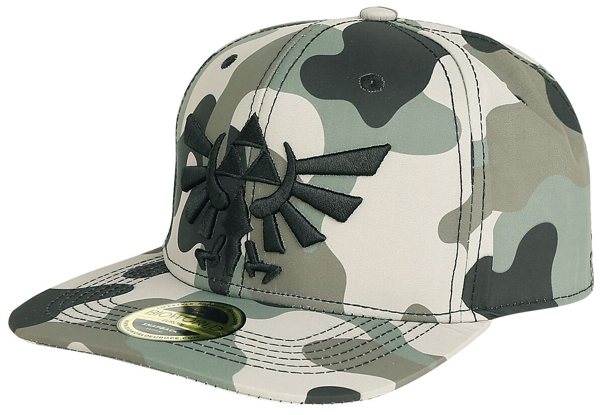 Image of   The Legend Of Zelda Camouflage 3D Embroidery Snapback Cap Snapback Cap camouflage