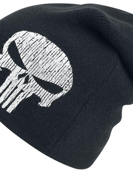 Marvel Punisher Men's Logo Slouchy Beanie Hat - Black