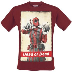 Deadpool Dead Or Dead T-shirt bordeaux