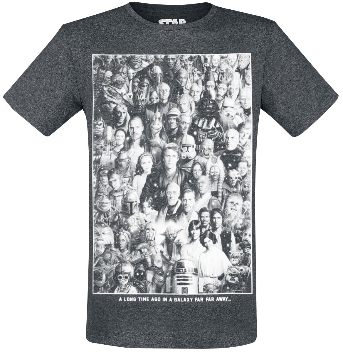 Image of   Star Wars A Long Time - Group T-Shirt Antracitmix