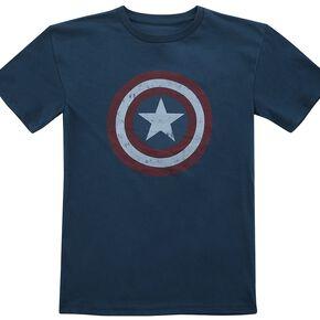 Captain America Bouclier T-shirt Enfant marine