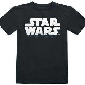 Star Wars Logo T-shirt Enfant noir