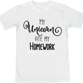 Unicorn My Unicorn Ate My Homework T-shirt Enfant blanc