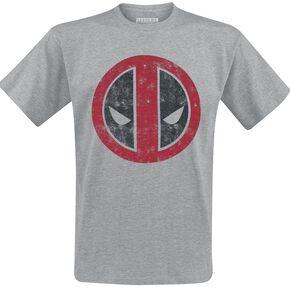 Deadpool Logo T-shirt gris chiné