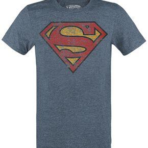 Superman Logo T-shirt bleu chiné