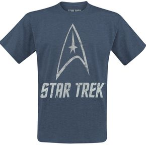 Star Trek Logo T-shirt bleu chiné