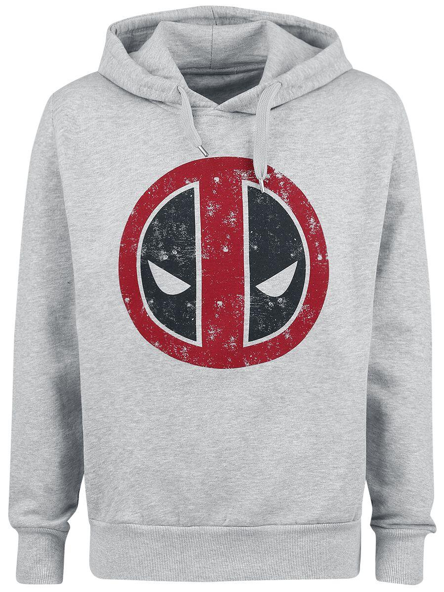 Image of   Deadpool Logo Hættetrøje grålig