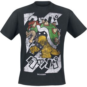 Super Mario Bowser - Kanto T-shirt noir