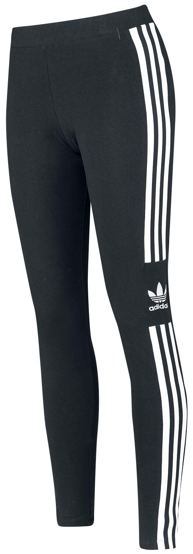 Hosen - Adidas Trefoil Tight Leggings schwarz weiß  - Onlineshop EMP