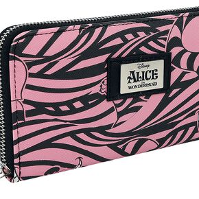 Alice Au Pays Des Merveilles Cheshire Cat Portefeuille rose/noir