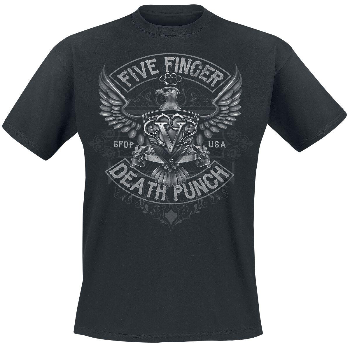 Image of   Five Finger Death Punch Howe Eagle Crest T-Shirt sort