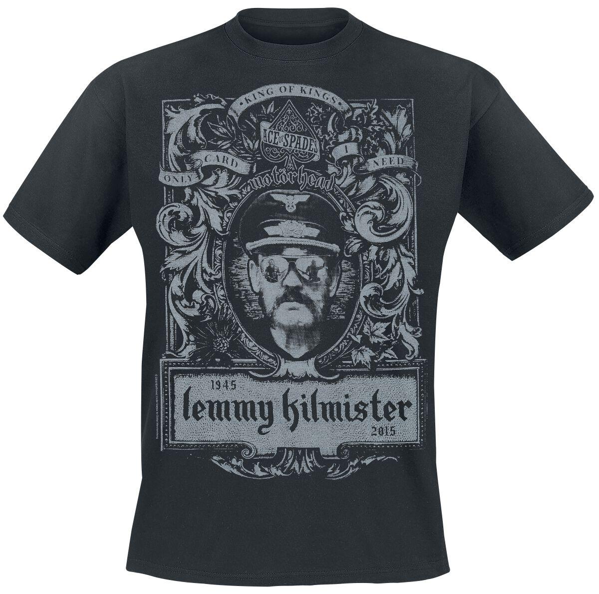 Image of   Motörhead Lemmy Crest T-Shirt sort