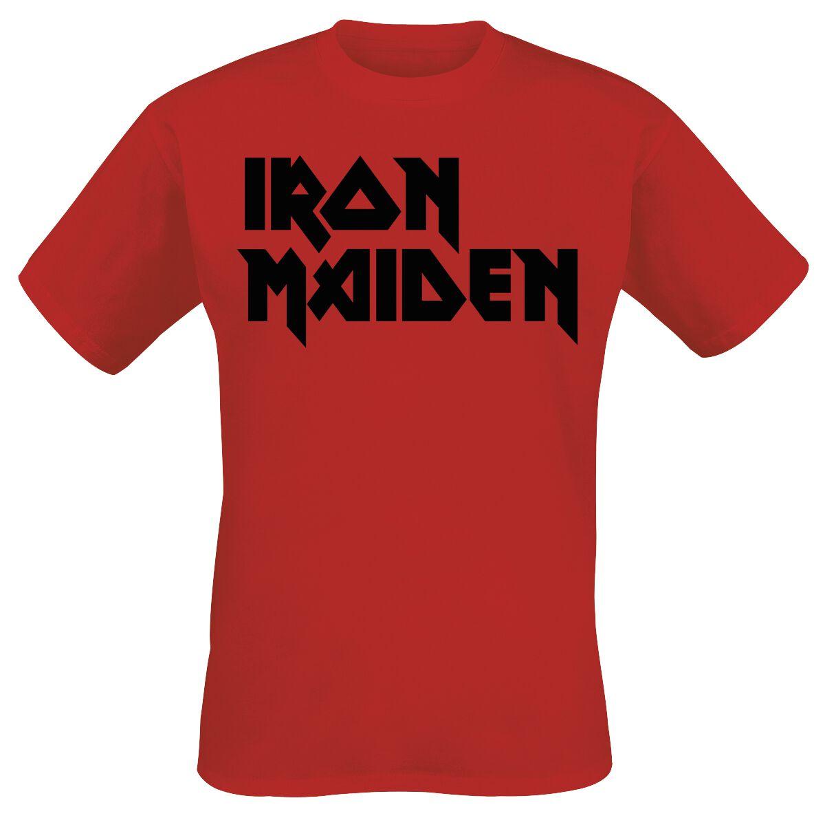 Image of   Iron Maiden Classic Logo T-Shirt rød