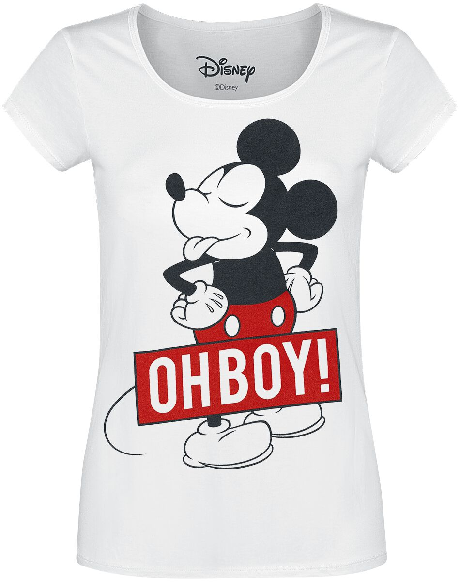 Image of   Mickey & Minnie Mouse Oh Boy Girlie trøje hvid