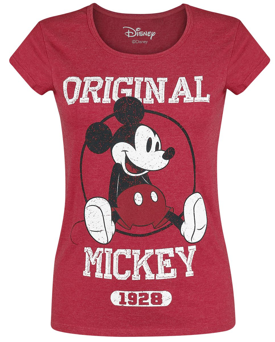 Image of   Mickey & Minnie Mouse Original Mickey Girlie trøje blandet rød