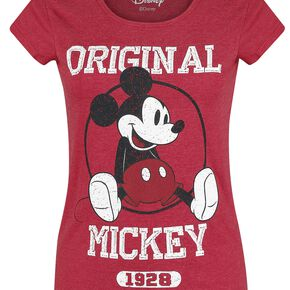 Mickey & Minnie Mouse Original Mickey T-shirt Femme rouge chiné