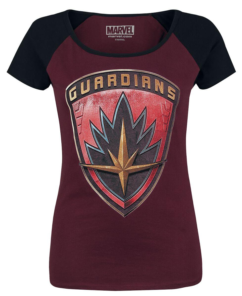 Image of   Guardians Of The Galaxy 2 - Badge Girlie trøje sort-burgundy