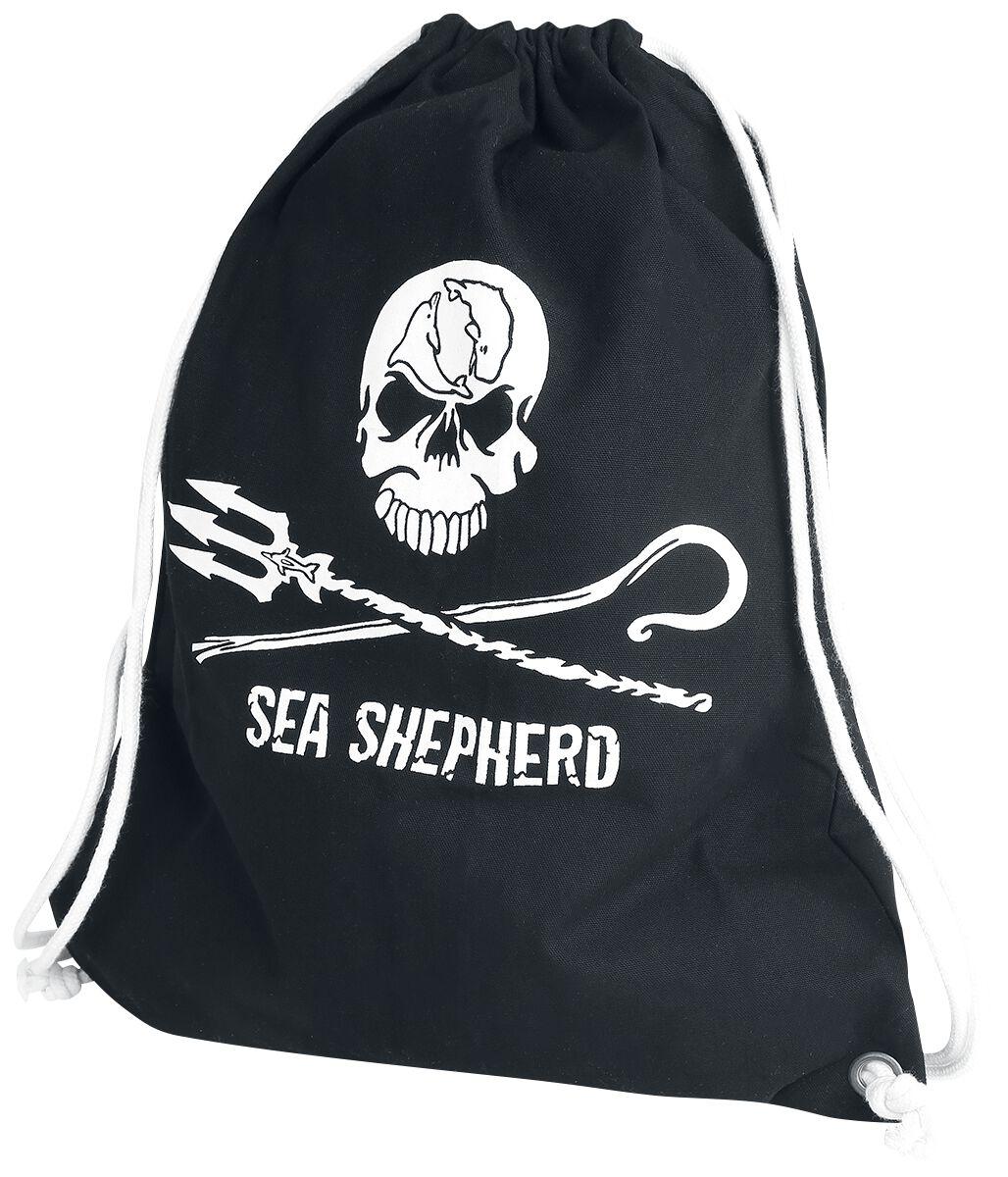 Sporttaschen für Frauen - Sea Shepherd Jolly Roger Turnbeutel schwarz  - Onlineshop EMP