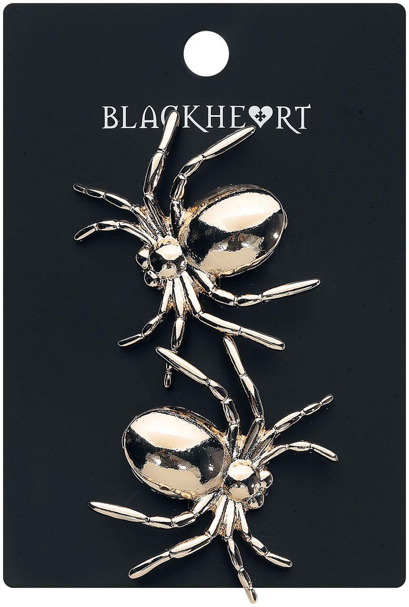 Image of   Blackheart Gold Spider Hair Clip Hårspænde guld