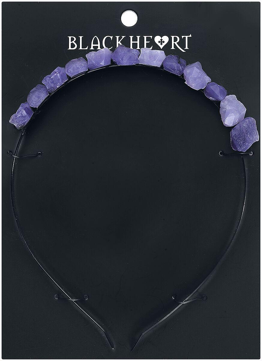 Image of   Blackheart Purple Raw Crystal Hårbånd sort-lilla