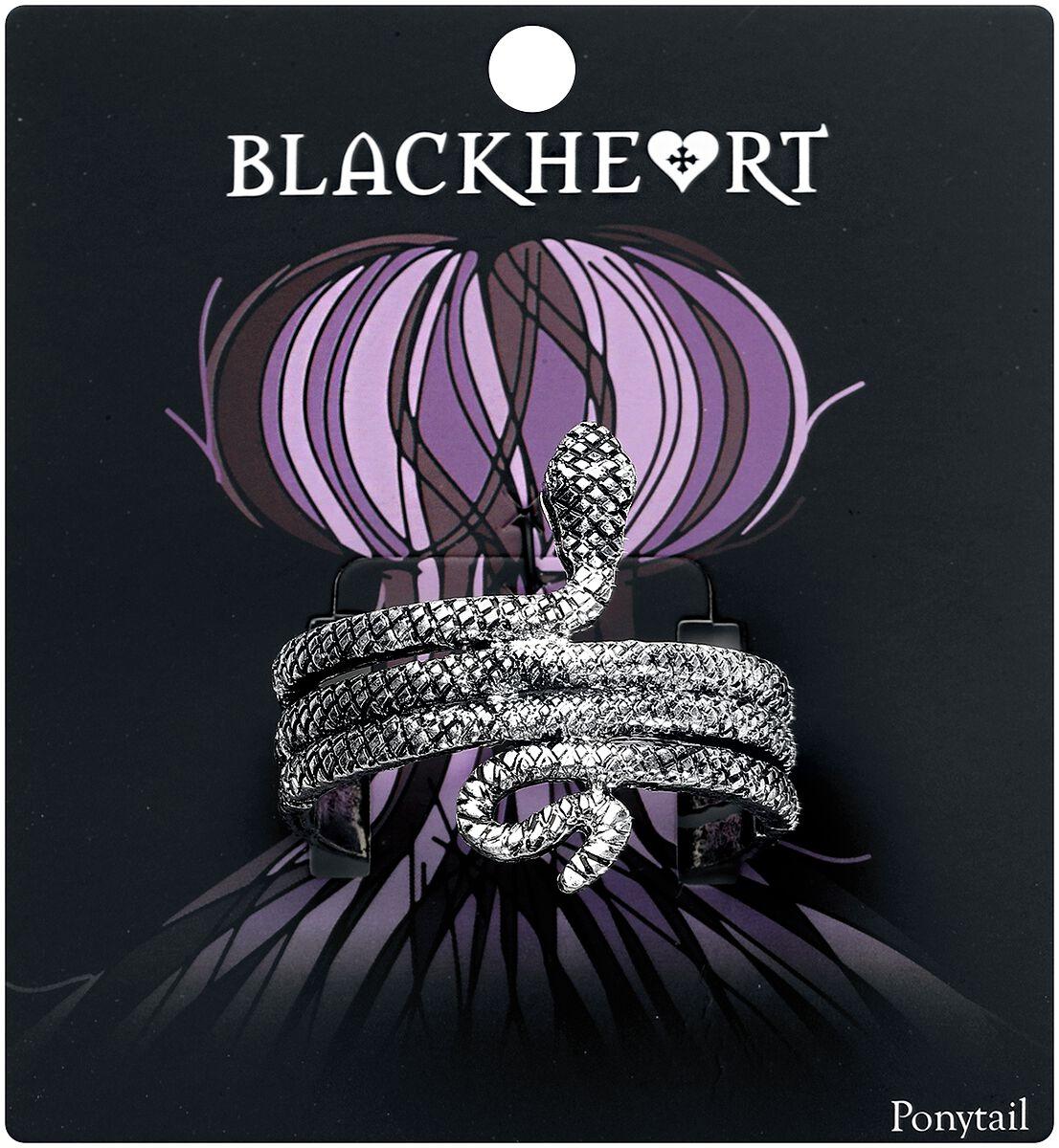 Image of   Blackheart Snake Scrunchy Hårelastik sølvfarvet