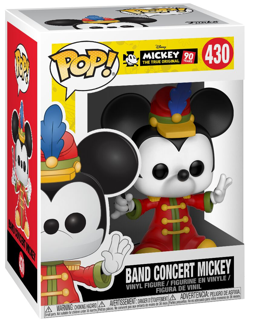Image of   Mickey & Minnie Mouse Mickey's 90th Anniversary - Band Concert Micky Vinyl Figure 430 Samlefigur Standard