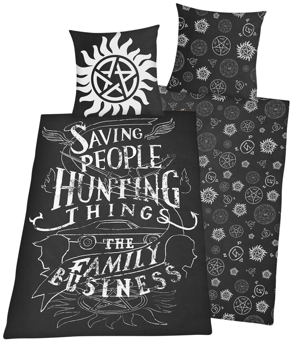 Image of   Supernatural Family Business Sengesæt multifarvet