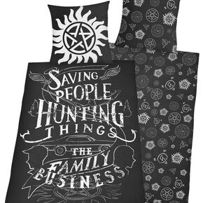 Supernatural Family Business Parure de lit 1 place multicolore