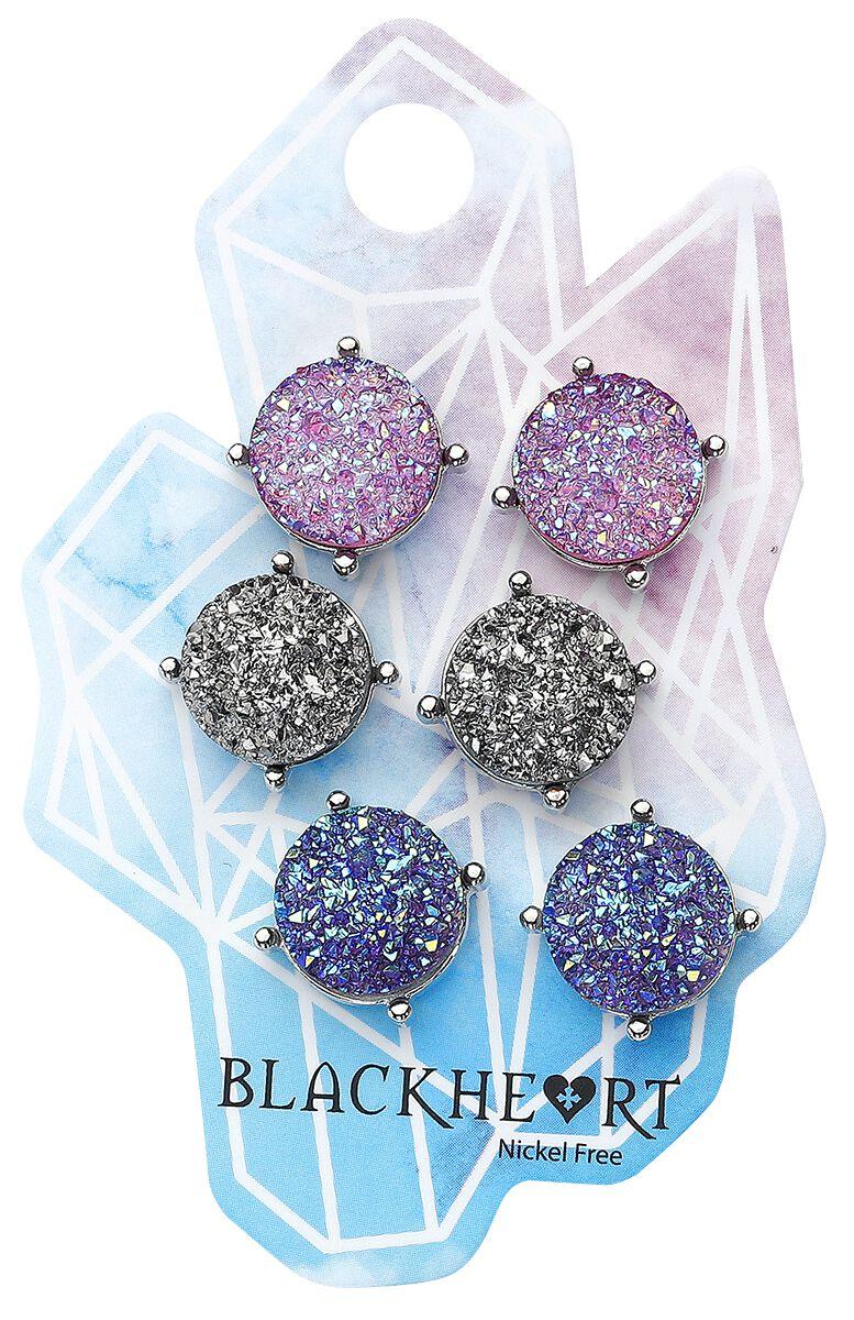 Image of   Blackheart Diamond Ørestik sæt multifarvet