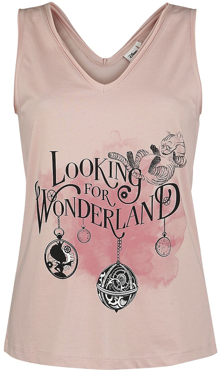 Image of   Alice i Eventyrland Looking For Wonderland Girlie top aften pink
