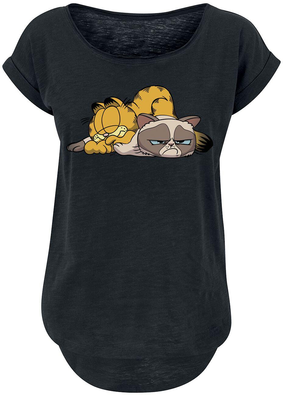 Grumpy Cat Double Trouble Koszulka damska czarny