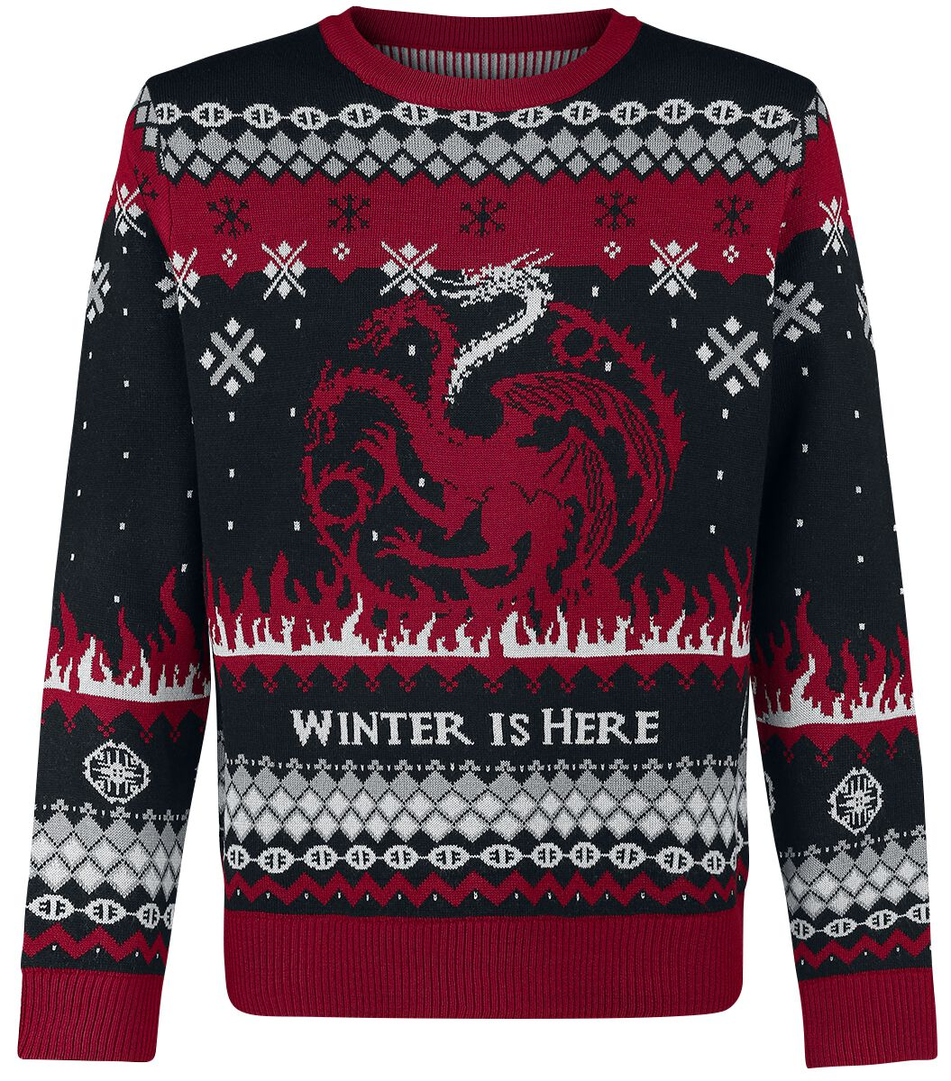 Image of   Game Of Thrones Fire And Blood Pullover sort-grå-rød