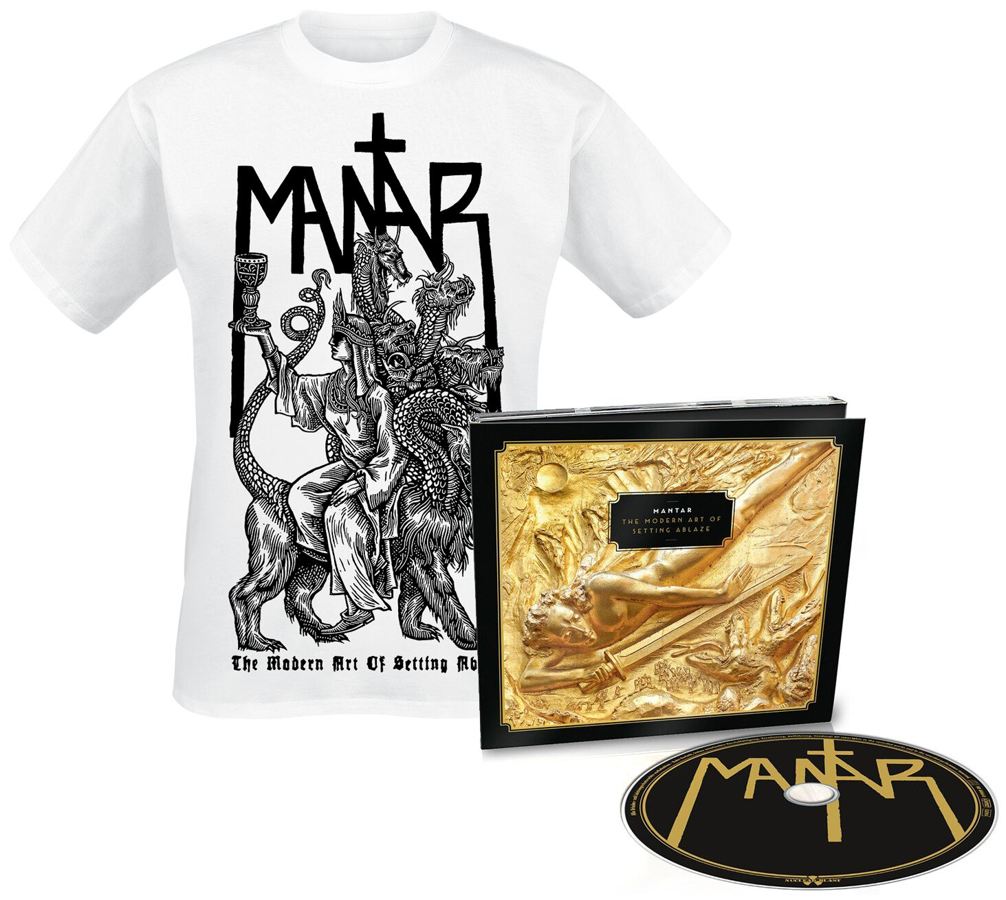 Image of   Mantar The modern art of setting ablaze CD & T-Shirt Standard