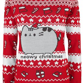 Pusheen Meowy Christmas Pull Femme multicolore