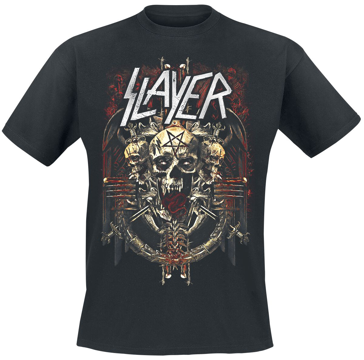 Image of   Slayer Demonic Admat T-Shirt sort