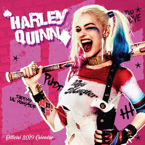 Harley Quinn 2019 - Calendrier Mural Calendrier mural multicolore