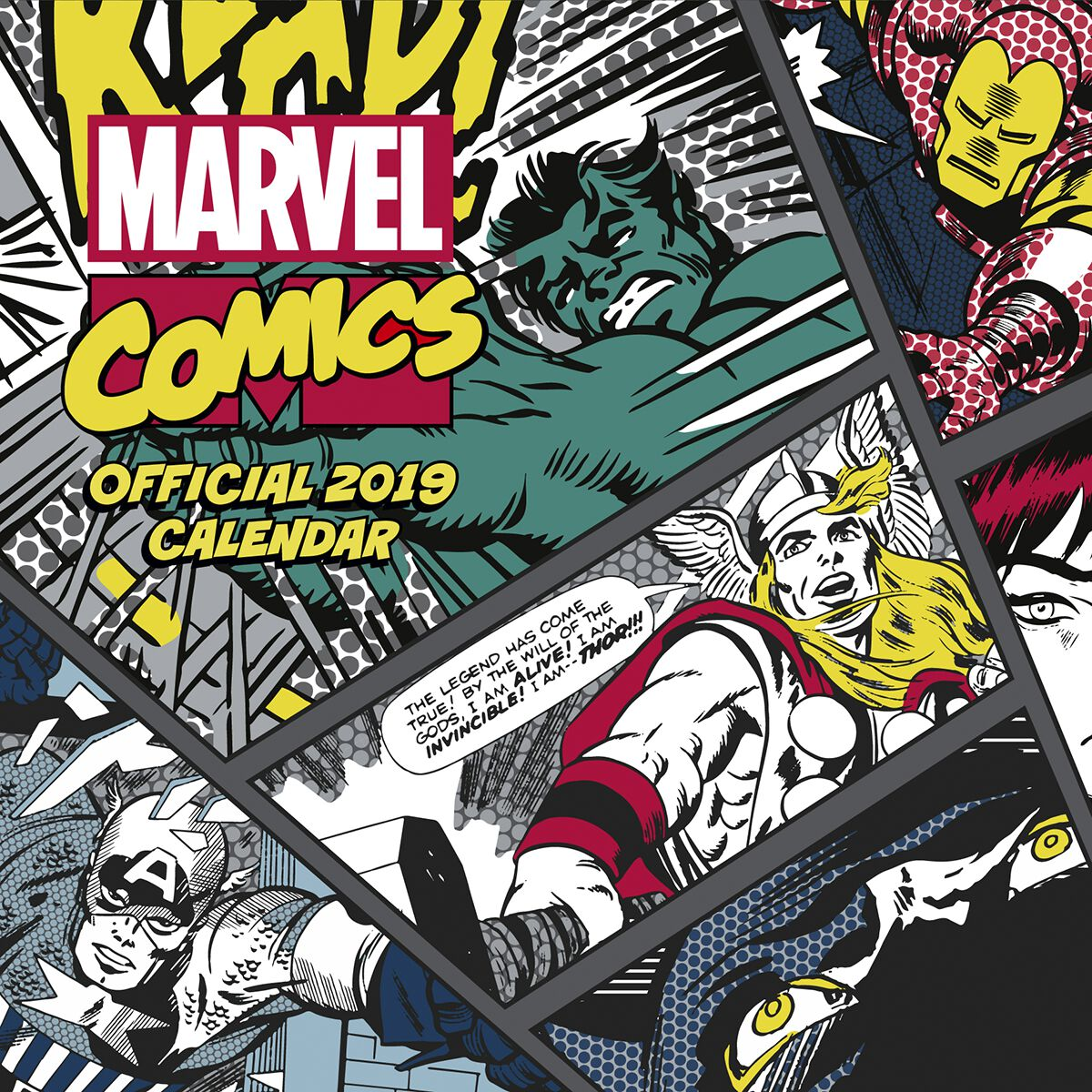 Marvel Classic Comics - 2019 Calendario pared Calendario oficial multicolor