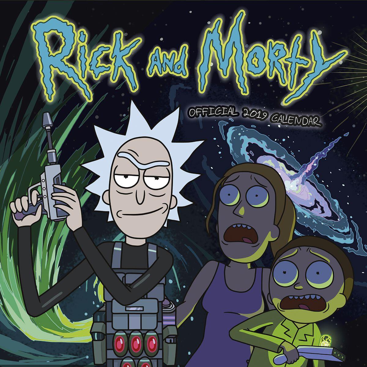 Rick And Morty Wandkalender 2019 Wandkalender M...