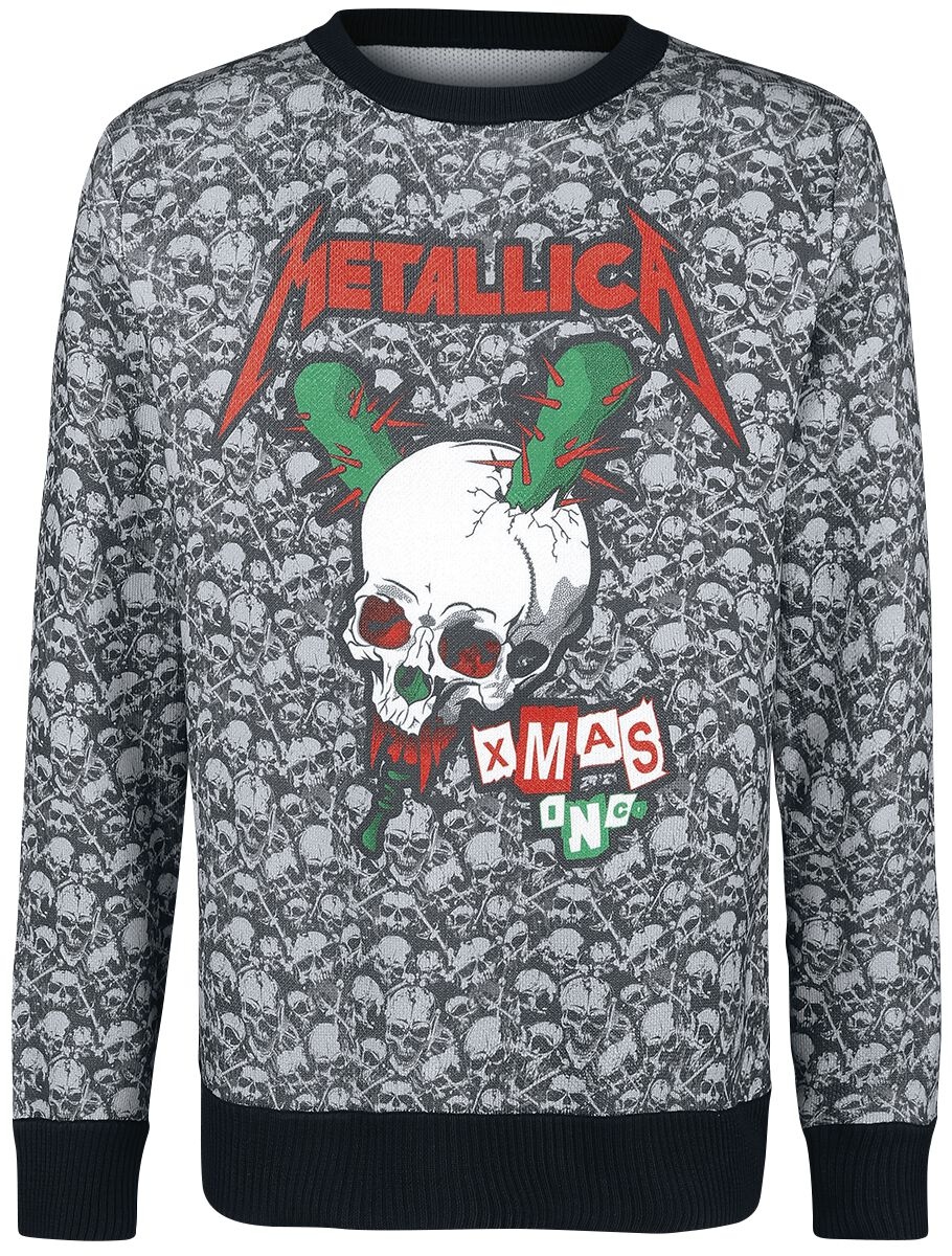 Image of   Metallica Holiday Sweater 2018 Strikketrøje grå