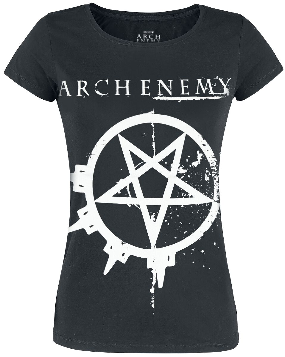 Image of   Arch Enemy Pentagram Girlie trøje sort