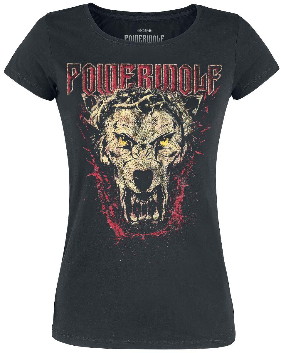 Image of   Powerwolf Icon Wolf Girlie trøje sort