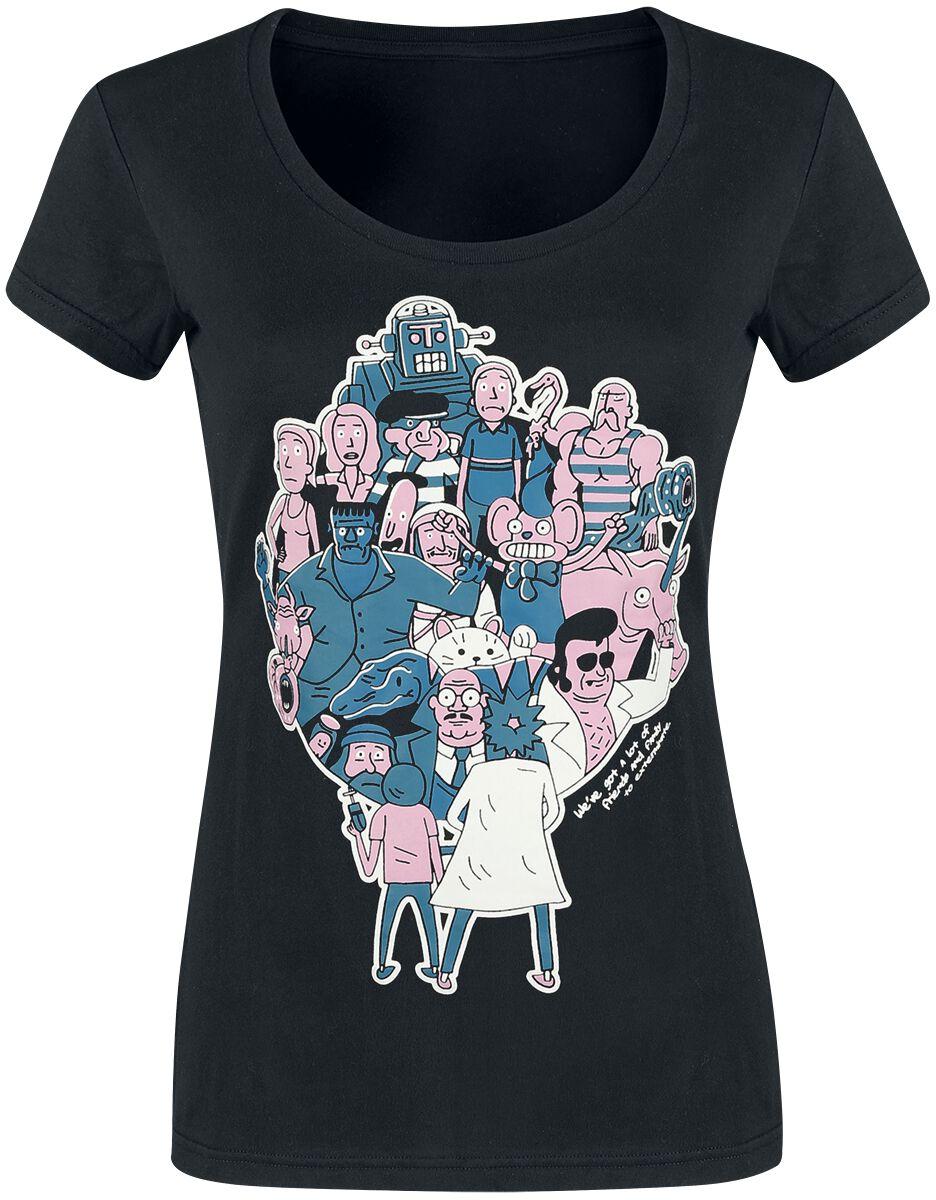 Image of   Rick And Morty Parasiten Girlie trøje sort