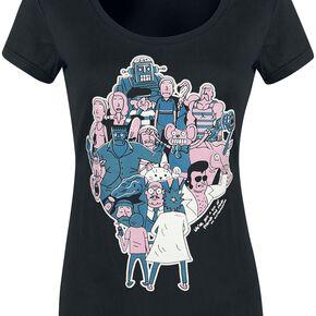 Rick & Morty Parasiten T-shirt Femme noir