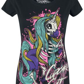 Unicorn Internal Unicorn T-shirt Femme noir